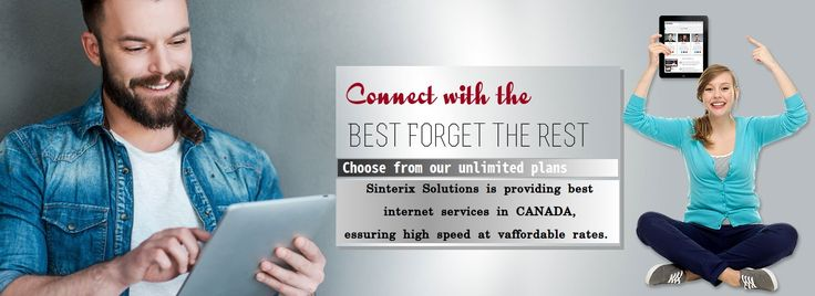 Sinterix is providing unlimited internet plans starting at just $19.95 with lightning speed. Our internet connection is one of the most reliable connection in Ontario and Quebec. Unlimited internet connection allows you to watch online H.D movies, songs, episodes, Live streaming matches and much more, without thinking about bills.