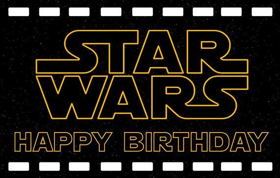 Star Wars Personalize Birthday Printed Backdrop Banner Etsy Star Wars Happy Birthday Star Wars Holiday Special Personalized Birthday Banners