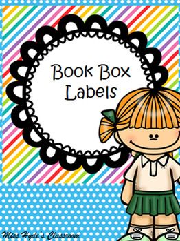 Bright and fun book box labels! Label your teacher resources or yours boxes to keep student books in. subjects include-Math-English-writing-spelling-comprehension-literacy-science-art-health-geography-other-4 blankClipart by EDU Clips www.edu-clips.com