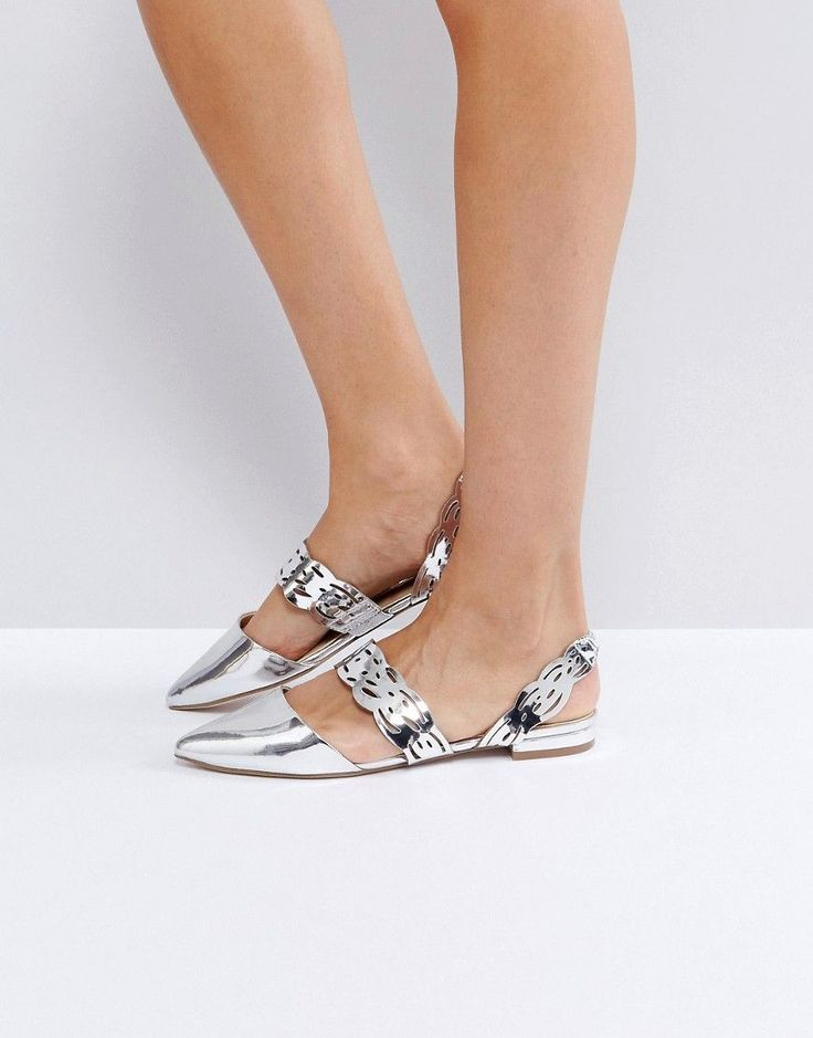Get this Asos's ballet flat now! Click for more details. Worldwide shipping. ASOS LATTICE Ballet Flats - Silver: Flat shoes by ASOS Collection, Smooth high-shine upper, Silver-tone finish, Slip-on style, Pointed toe, Wipe with a damp cloth. Score a wardrobe win no matter the dress code with our ASOS Collection own-label collection. From polished prom to the after party, our London-based design team scour the globe to nail your new-season fashion goals with need-right-now dresses, outerwear…