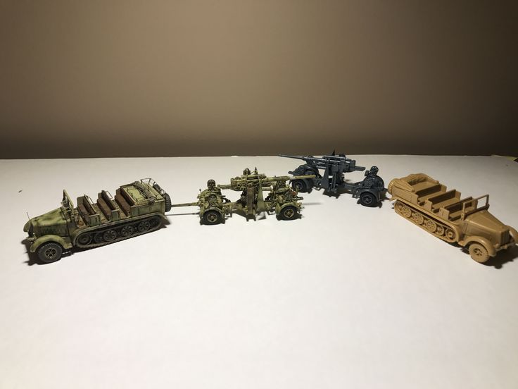 Rocco minitanks 1/87 sdkfz 7 and flak 36 kit and ready made