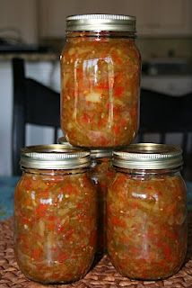 Pepper Relish: sweet & spicy .. must try if alllll of our veggies grow this year