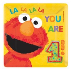Elmo 1st Birthday Party: Dinners Plates, 1Stbirthday, Sesame Street, 1St Birthday Parties, Parties Supplies, Elmo 1St, Elmo Birthday, Parties Ideas, Birthday Ideas