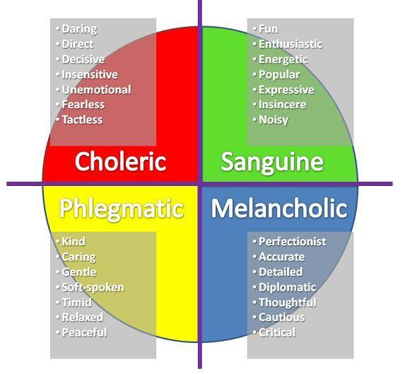 Phlegmatic personality type
