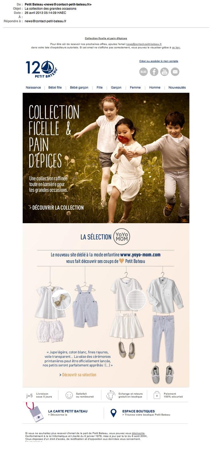 Emailing Collection ficelle et pain d'épices © Petit Bateau
