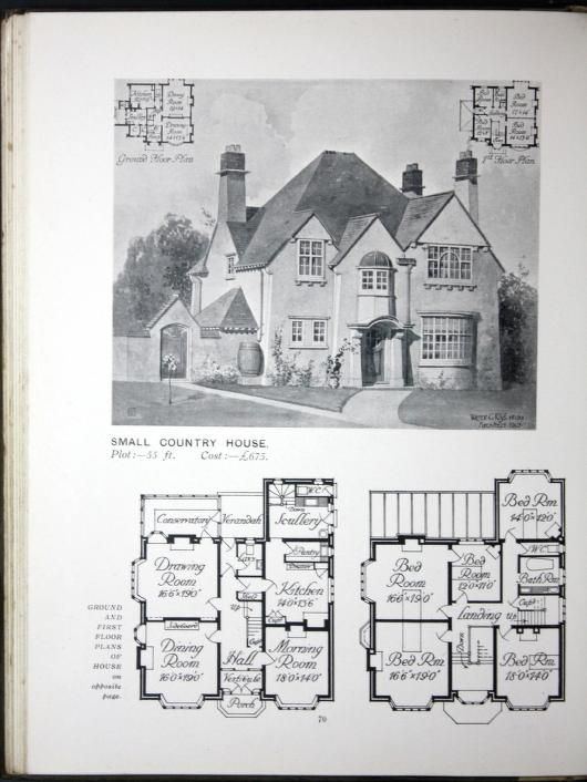 1900s house plans escortsea for Vintage floor plans