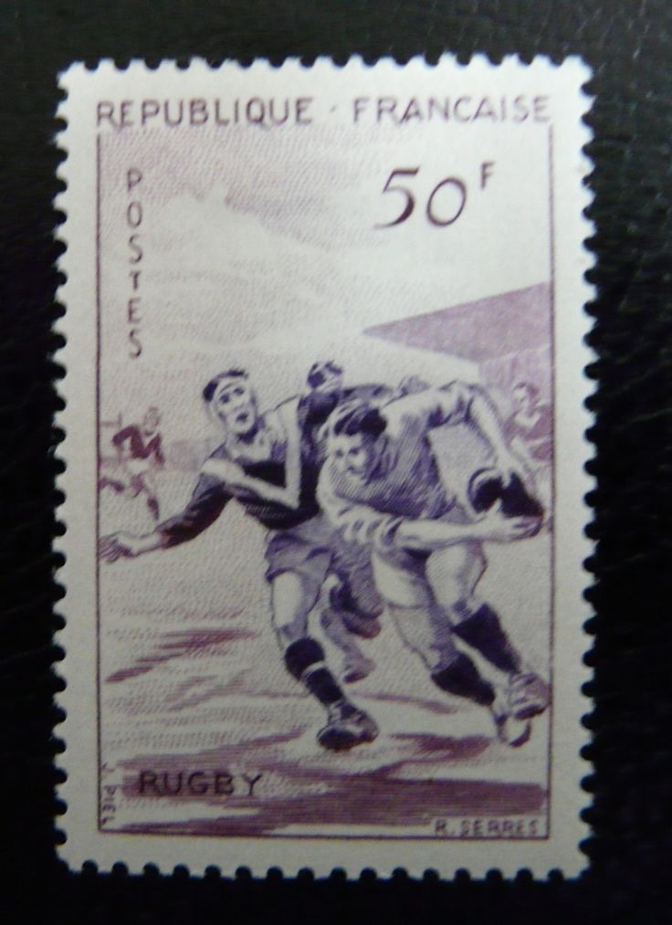 France 1956 - For more #rugby collectables check out my blog: http://www.rocky-rugby.com/