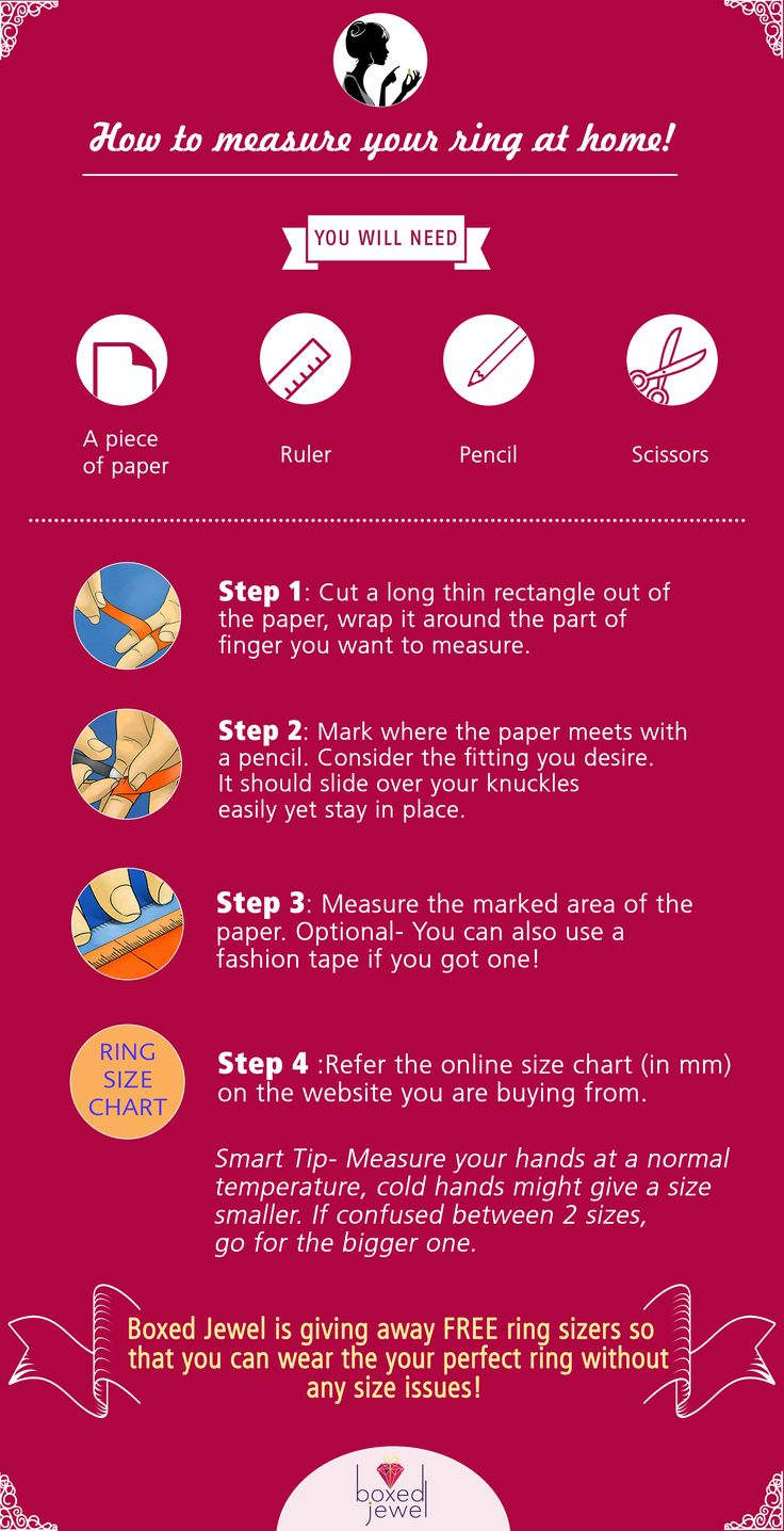 let us guide you on - How To Measure a Ring at Home.  #infographic #ring #jewellery