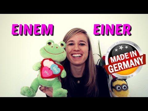 The DATIVE part 2: Einem, einer etc. (indefinite articles) - YouTube
