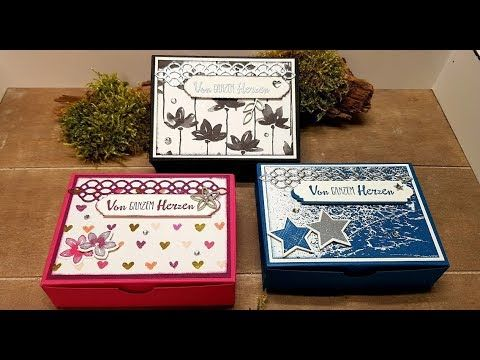 Instructions: Small opening box for goodies with products from Stampin & # 39; Up! – YouTube