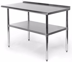Commercial-Restaurant-Equipment-Kitchen-Work-And-Prep-Table-With-Backlash-Steel