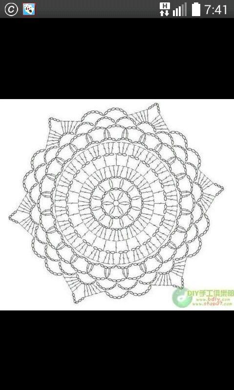 144 besten crochet mandalas Bilder auf Pinterest | Deckchen ...