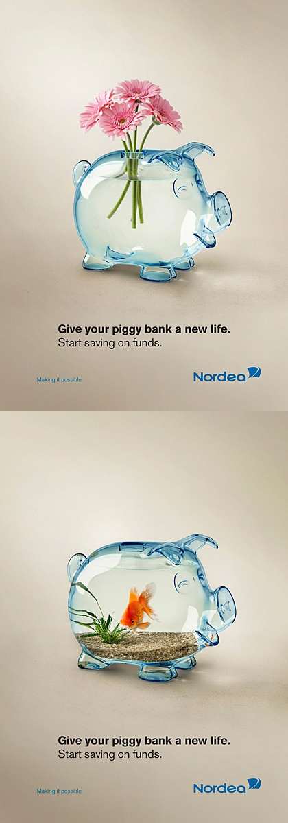 Clever Piggy Bank advertising.