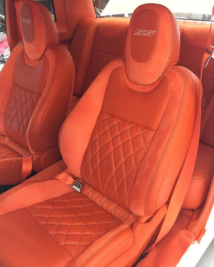 Monte Carlo White With All Orange Camaro Interior Seats