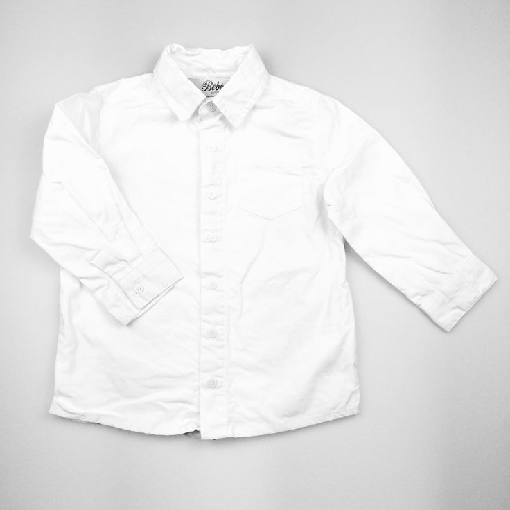 BEBE by MINIHAHA, white long-sleeved cotton shirt, excellent pre-loved condition (EUC), boy's size 2, $9