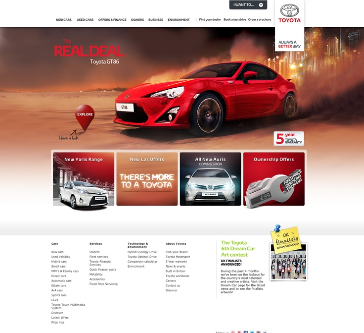 Toyota Home Page
