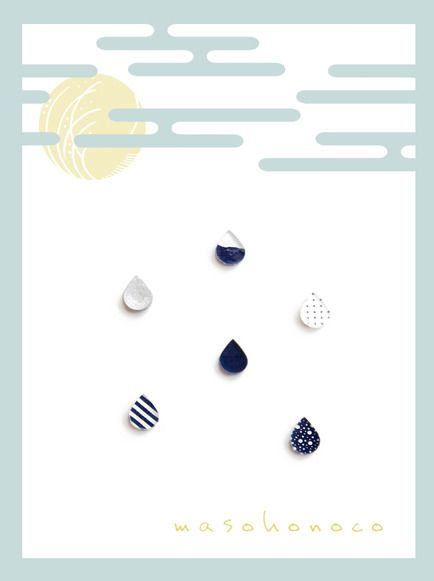 """arita drop"" by masoho アクセサリー ピアス | ハンドメイド、手作り作品の通販・販売サイト minne(ミンネ)"