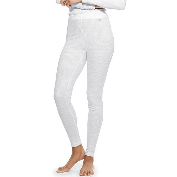 Women's Champion Thermal Base Layer Tights ($14) ❤ liked on Polyvore featuring activewear, activewear pants, white, champion sportswear and champion activewear