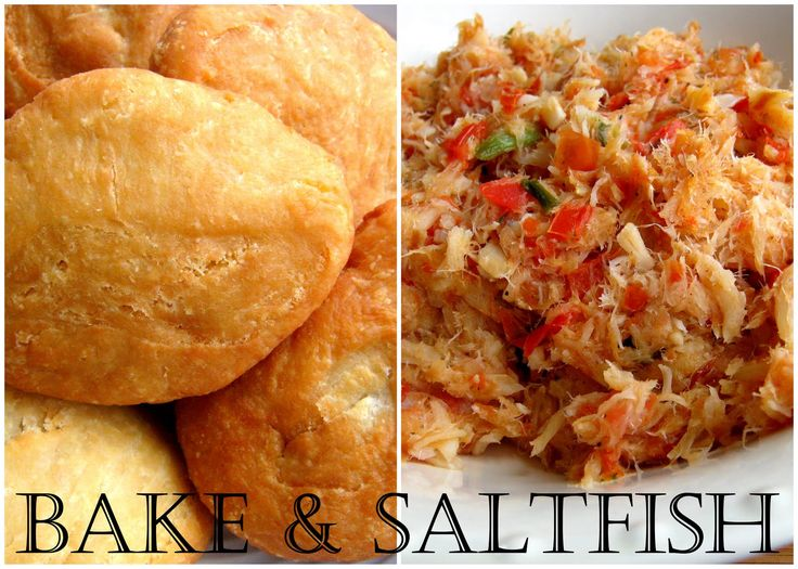The Inner Gourmet: Bake and Saltfish: A classic Caribbean breakfast!  (A good shortcut would be to have some salted & dried codfish on hand)