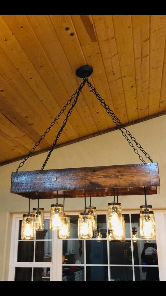 1880 S Reclaimed Homestead Wood Chandelier Mason Jar Chandelier
