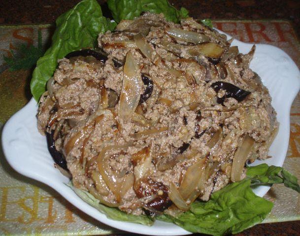 Баклажаны  с орехами (Грузинская кухня)