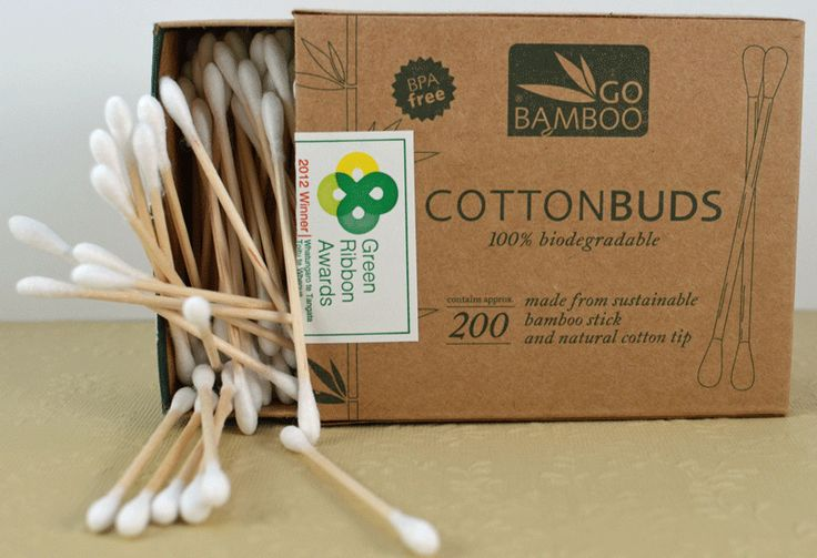 Go Bamboo Biodegradable Cotton Buds | Hello Charlie