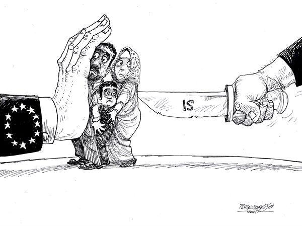 between bad and worse © Petar Pismestrovic,Kleine Zeitung, Austria,EU, War, Syria, ISIS, Lybia, Europe, Hungary, USA, Iraq, Terror
