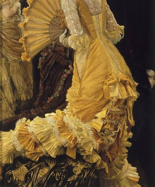 Le Bal, detail, James Tissot, 1836-1902