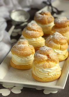 Choux crème patissière chantilly : recette illustrée, simple et facile
