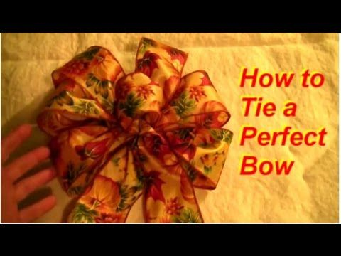 How to make a bow with wired ribbon Evergreen Lake of the Ozarks Missouri - YouTube