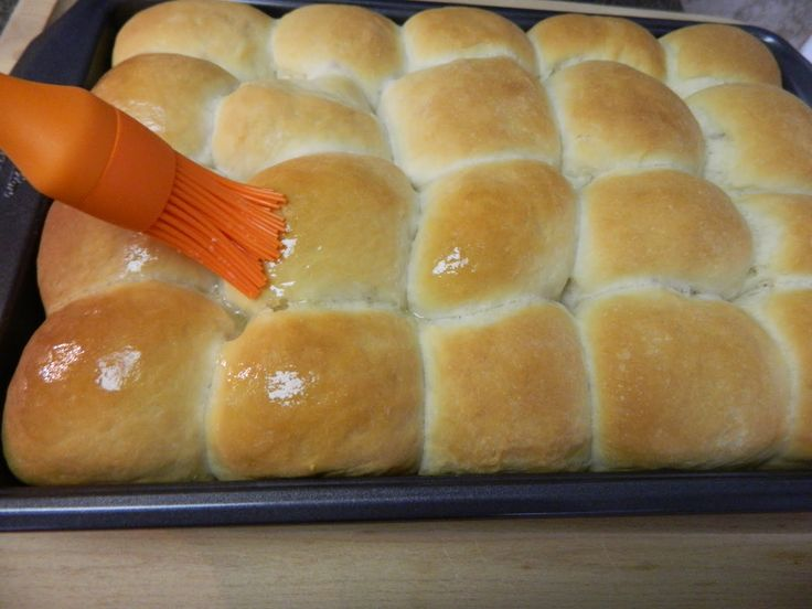My mother has made these yeast rolls at least once a week for as long as I can remember. She also makes them for the monthly potluck dinners...