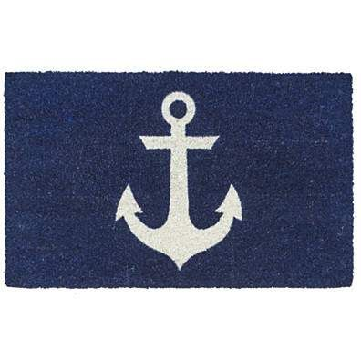 Blue Anchor Non Slip Coir Doormat     This is a doormat but would be a cute pillow.