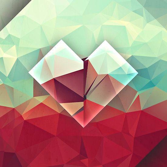 Abstract Polygon Heart