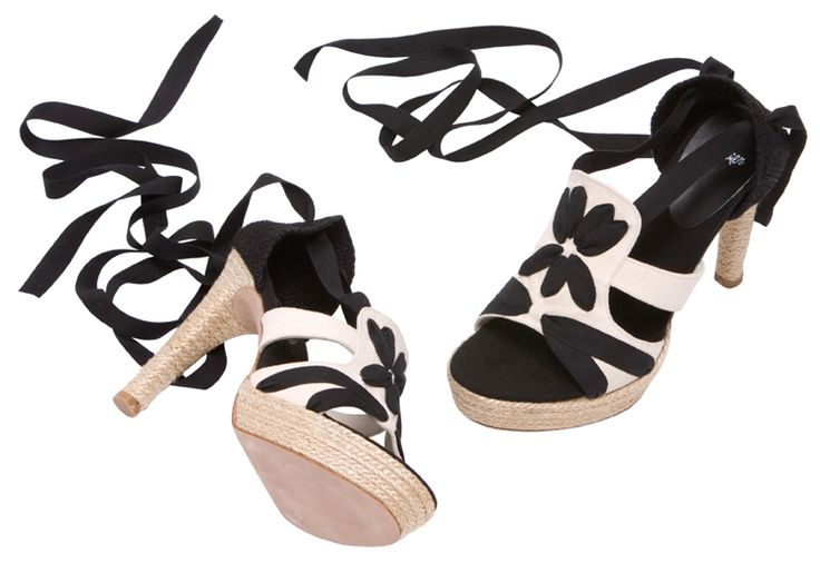 06ce960ad8b2 Leather backed cotton canvas upper with cotton ribbon embroidery and laces.  Cotton canvas foot bed on rope covered 1 inch platform and rope  .