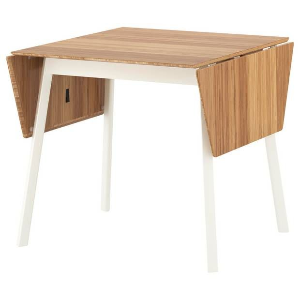 Calling all small-space entertainers! This breakfast table-turned dining table features a drop-leaf table functionality that's ideal in size and minimal enough to fit within a variety of decorative styles.