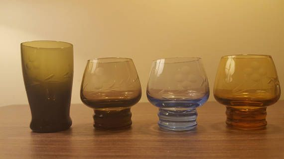 Check out this item in my Etsy shop https://www.etsy.com/ca/listing/574348481/vintage-shot-glass-set-retro-shot-glass