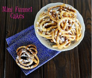 Mini Funnel Cakes - Just as good as the ones you get from the state fair!