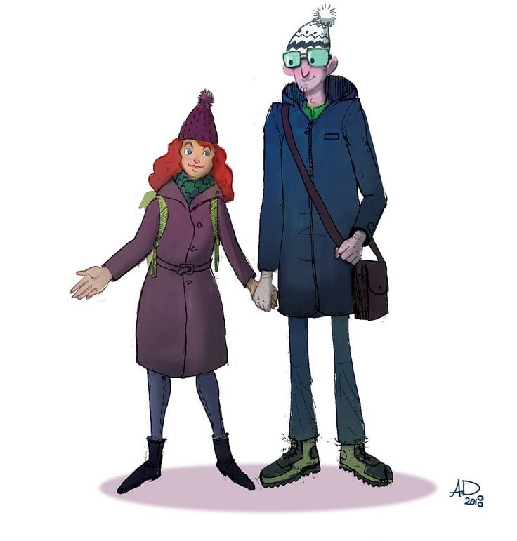 Here is another couple. The calm and tall one and the feisty one.  #characterdesign #peoplesketching #people #digital #doodle #peoplesketch #sketch #drawing #feisty #draw #couple #couples #valentinesday #love #instagood #beautiful #happy #art #nofilter #alexdanila