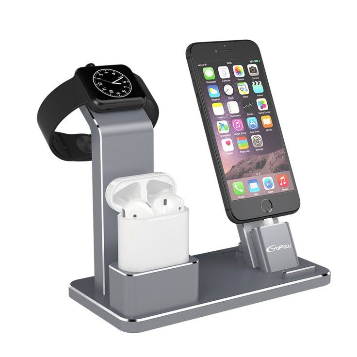 YFW Holder for Apple Watch 4 in 1 AirPods Accessories Charging Dock Phone Stand for iWatch Series 2/1/iPhone 7/7Plus/6s Plus/5s //Price: $48.00//     #Gadget