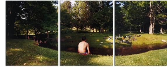David Hilliard - Swimmers - very Thomas Eakins like....