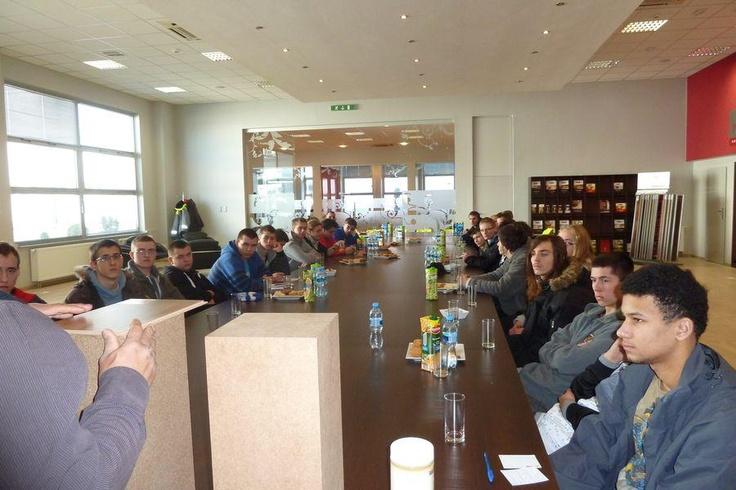 Wizyta uczniów z Zesp. Szkół Budowlano–Drzewnych w Poznaniu