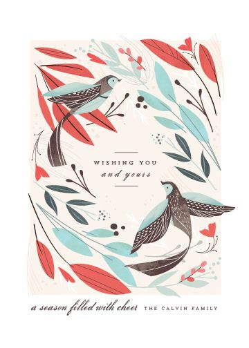 non-photo holiday cards - Winter Birds by Lori Wemple