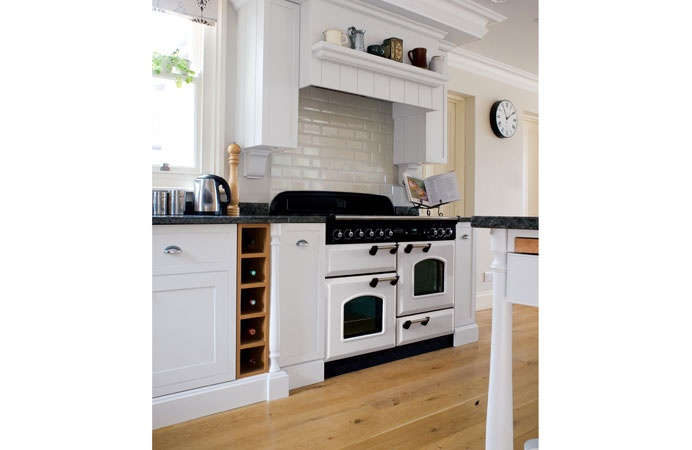 A white range cooker gives a fresh yet retro feel, whilst an inglenook effect frames a range cooker beautifully, to enhance the traditional look.