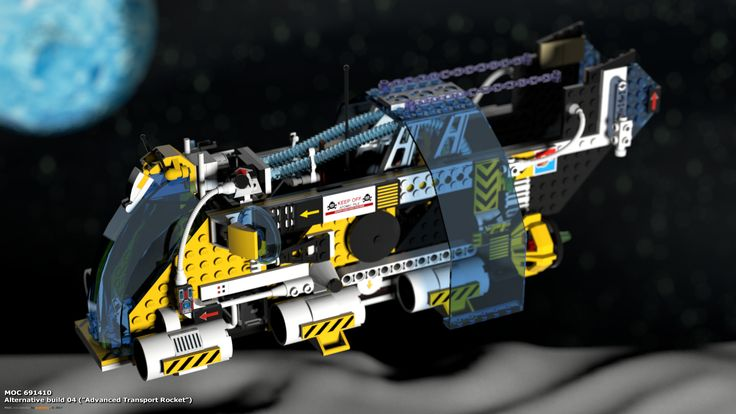 "MOC 691410 Alternative Build 04 (""Advanced Transport Rocket""), see more at http://lego.queryen.com/php/691410.php"