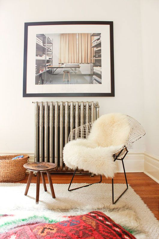 love the chair with sheepskin