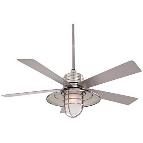 "54"" Minka Aire Rainman Brushed Nickel Ceiling Fan"