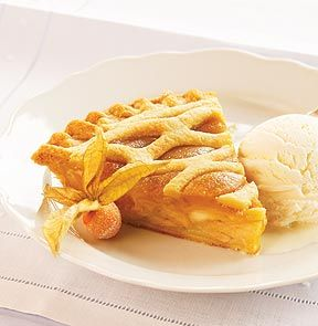 CARAMEL APPLE PIE. Beneath the lattice crust of this delectable pie are fresh slices of Nova Scotia Ida Red Apples smothered in a rich layer of caramel brown sugar filling made with real cream and whole milk. - M & M Meat Shops