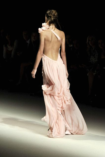 blush flowy frockWedding Dressses, Fashion, Blushes Pink, Style, Backless Dresses, Beautiful, Pale Pink, Open Backs, Pink Gowns