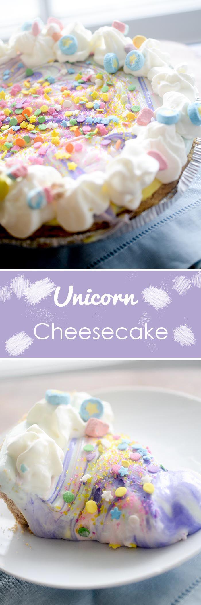 Unicorn Cheesecake! #unicorn -- Recipe Diaries