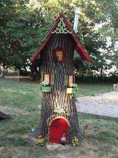 Gnome homes. What to do with the stump of a fallen tree.
